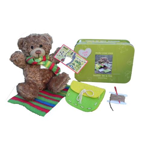 Travel Teddy Bear Kit in a Tin