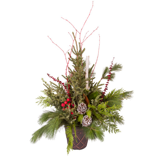 """10"""" Traditional Winter Porch Pot  