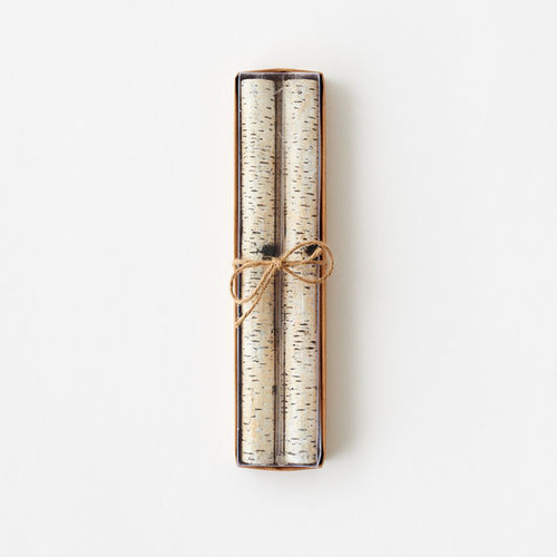 Birch Taper Candle, Boxed St/2