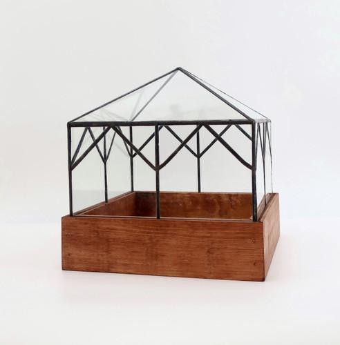 Cottage Terrarium by Leadhead Glass