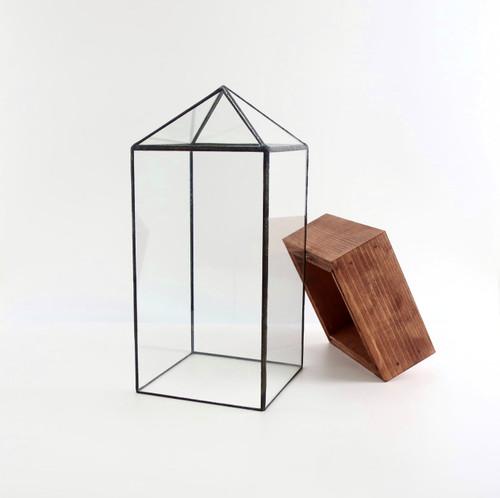 Tower Terrarium by Leadhead Glass