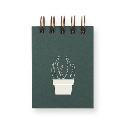 Succulent Mini Jotter Notebook  - by Ruff House Print Shop