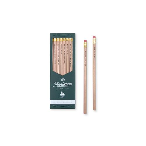 Plantsman Pencil Set  - by Ruff House Print Shop