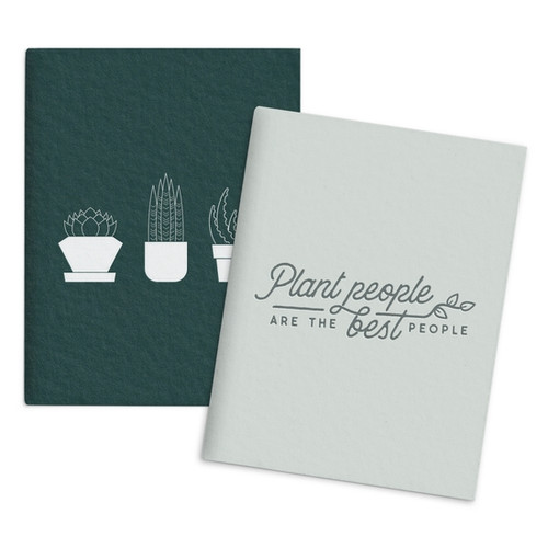 Succulent Plant People Set of 2 Pocket Notebooks  - by Ruff House Print Shop