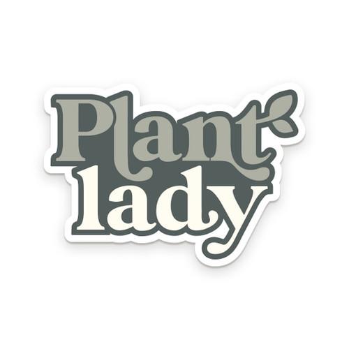 Plant Lady Sticker  - by Ruff House Print Shop