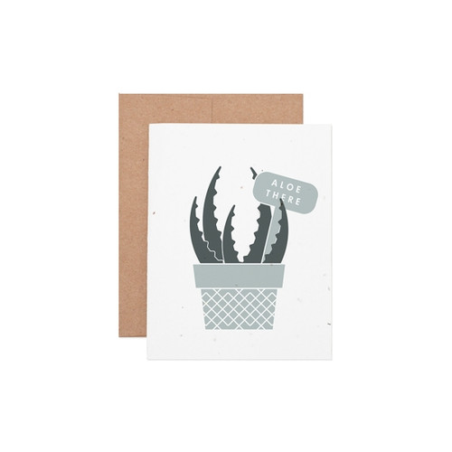 """""""Aloe There"""" Every Day Seeded Plantable Greeting Card  - by Ruff House Print Shop"""