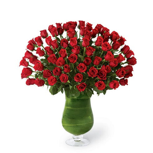 """Attraction"" Luxury Bouquet - 72 Red Roses"