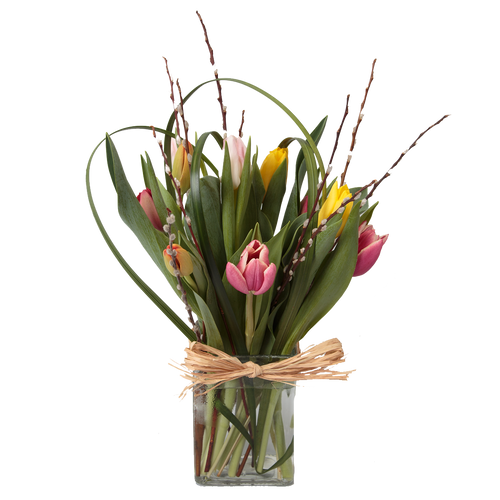 Standard/Good -10 Mixed Tulips in a Vase