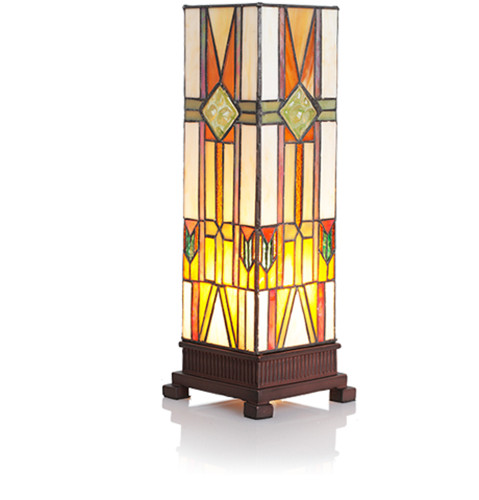"14"" Mission Style Hurricane Accent Lamp"