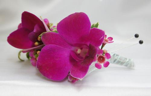 Custom Made -Fuchia Orchid Boutonniere
