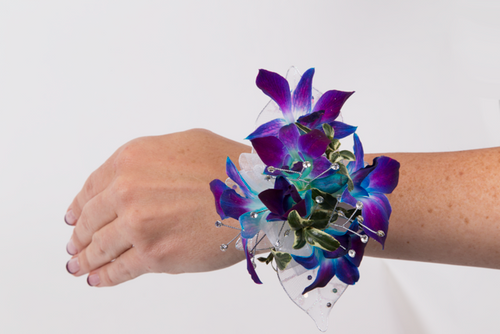 Custom Made -Blue Orchid Wrist Corsage