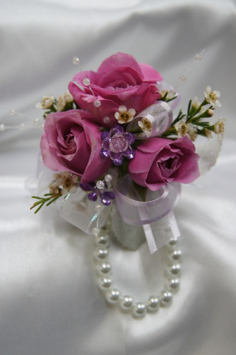 Custom Made -Lavender Rose Wrist Corsage