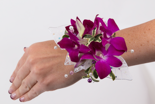 Custom Made -All Orchid Wrist Corsage