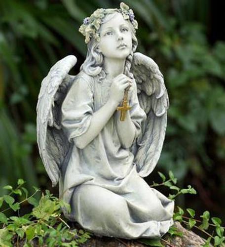 Praying Angel with Cross
