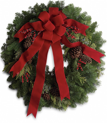Classic Holiday Fresh Evergreen Wreath