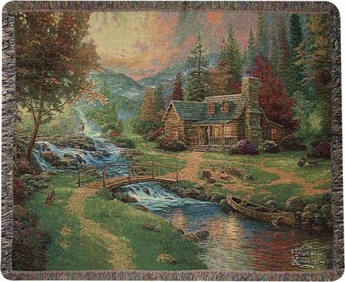 Mountain Paradise Plain Throw Blanket