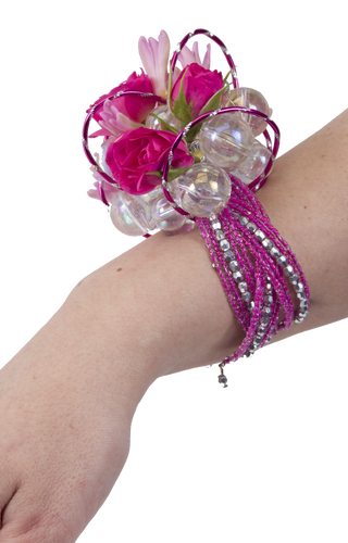 Custom Made - Beaded Cuff Wrist Corsage