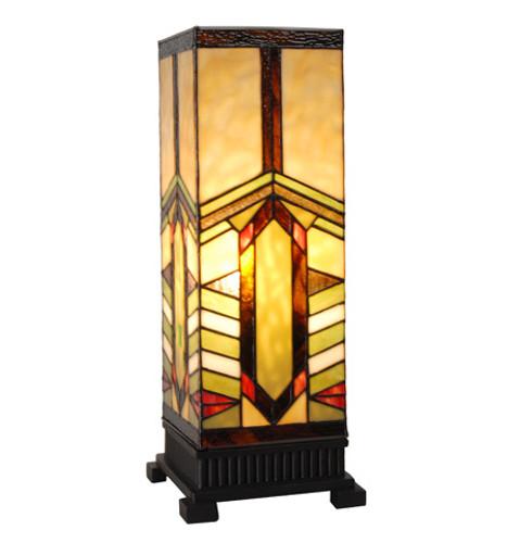 Stone Mountain Craftsman Style Pillar Table Lamp