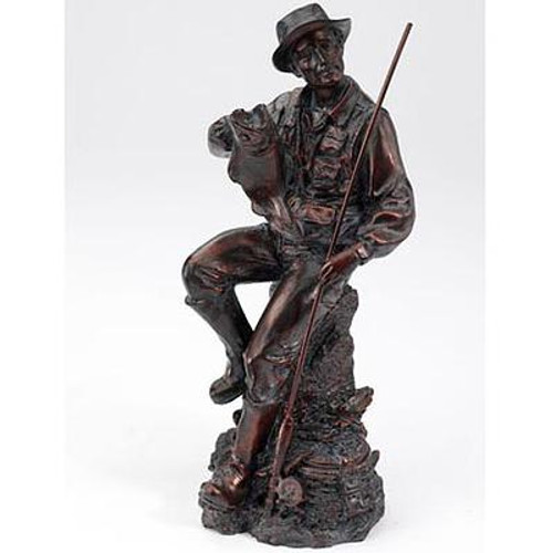 Great Bronze Fisherman Figurine