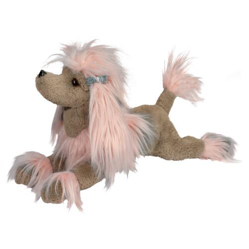 """19"""" Zaza Pink Plush  Poodle Fur Fuzzle* By Douglas"""