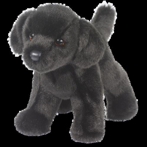"""8"""" Bear Black Lab Plush by Douglas"""