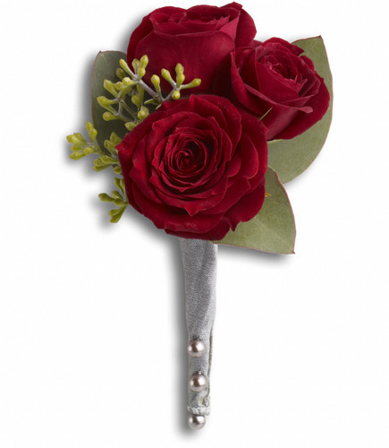 King's Red Rose Boutonniere