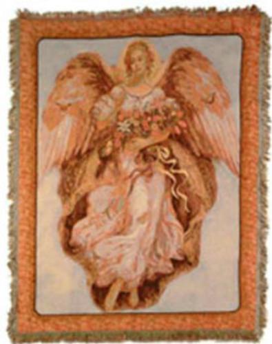 Angel On High Throw Blanket