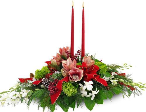 Christmas Orchid Centerpiece