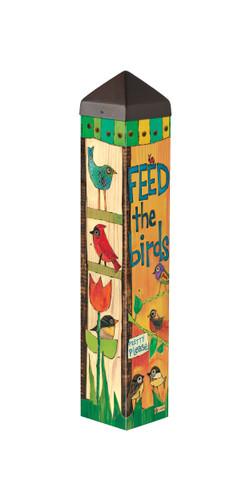 """Feed the Birds 20"""" Art Pole"""