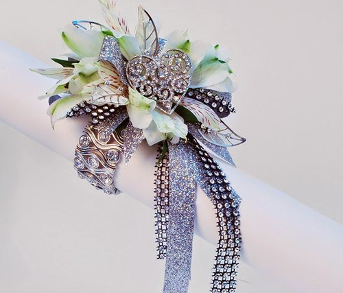 Custom Made -Uber Bling Wrist Corsage