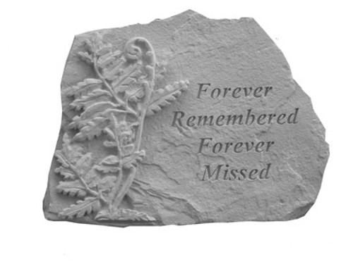 Forever Remembered With Fern...Memory Stone