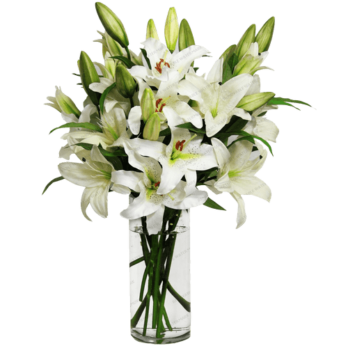 Winter White Lilies Bouquet