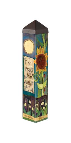 """Find Peace  20"""" Art Pole"""
