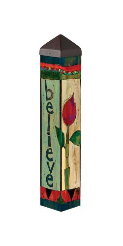 """Believe 20"""" Art Pole"""