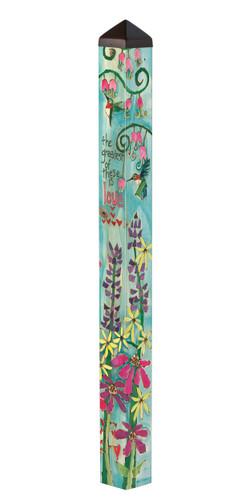 Faith, Hope And Love 4' Art Pole