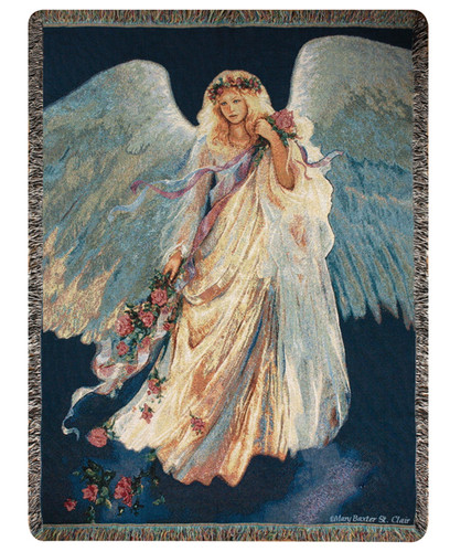 Messenger of Love Tapestry Throw Blanket