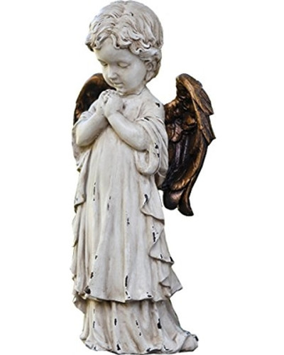 Praying Cherub with Bronze Wings