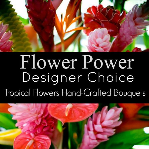 Assorted Tropical Flowers Florist Designed Bouquet