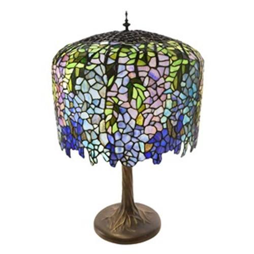 "30"" Tiffany Style  Wisteria Grand Table Lamp"