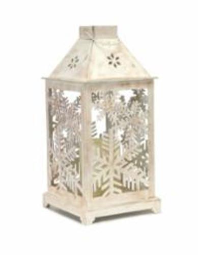 Latern W Snowflake Cutout & LED Candle