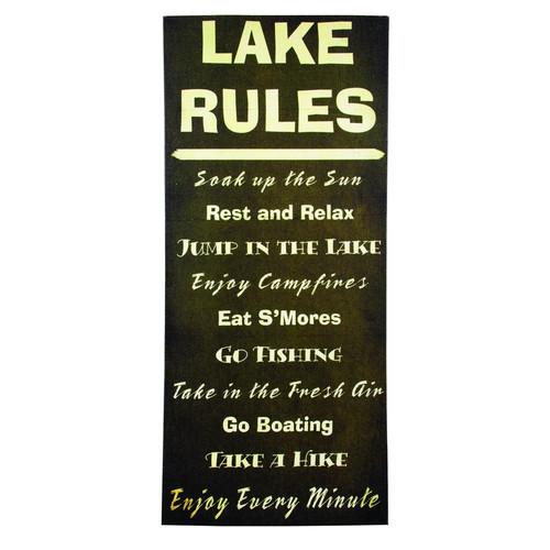 Lake House Rules Canvas