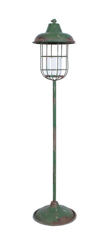 "52""H Metal Standing Lantern Pillar Holder"