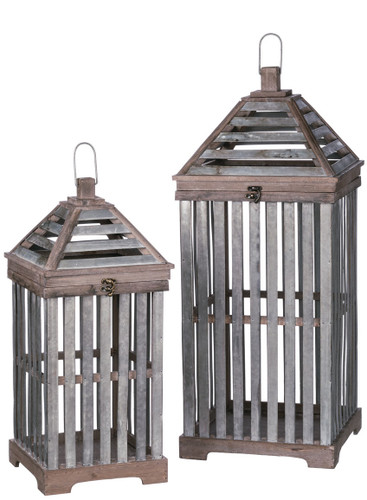 Crate Lantern Set of 2