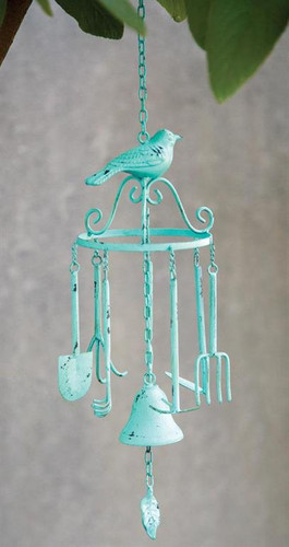 TWEET GARDEN WINDCHIME BLUE