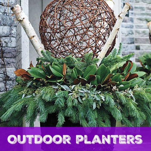 Outdoor Custom Planter Subcription for Your Business or Home (Price Per Quarter- Per Planter)