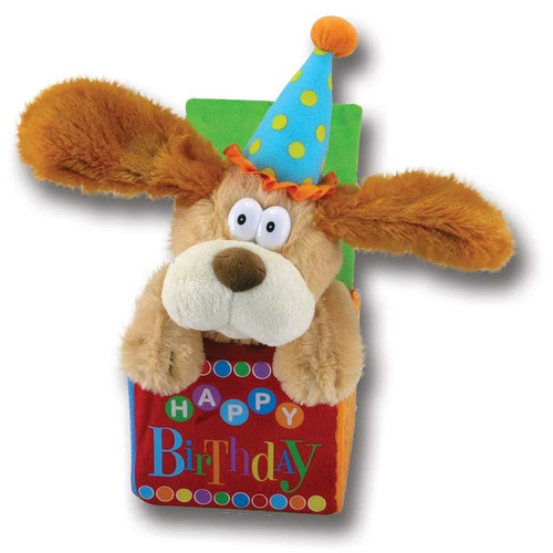 Singing and Moving Birthday Dog Cuddle Barn Plush