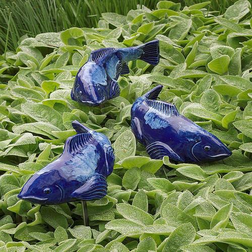Fish in the Garden - Ceramic Coi