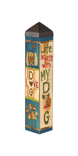 """Lessons from my Dog 20"""" Art Pole"""