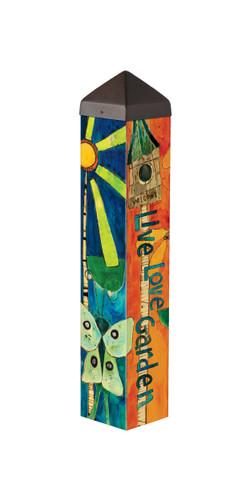 "Love Garden 20""  Art Pole"