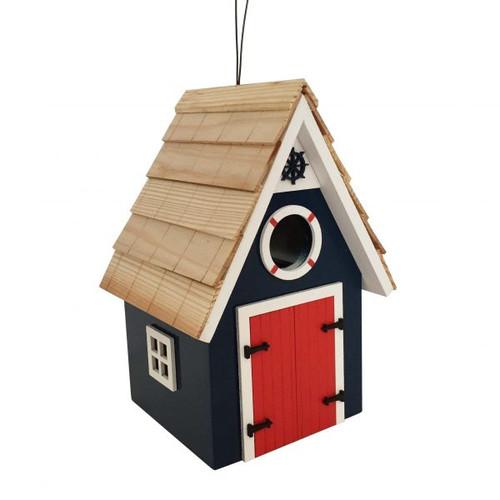 Dockside Cabin Birdhouse by Home Bazaar